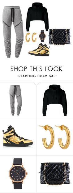 """""""Dance Practice"""" by xzombibunnix ❤ liked on Polyvore featuring Marc by Marc Jacobs, Jennifer Fisher, Marc Jacobs, Chanel, casual, gold, swag, Sexy and edgy"""