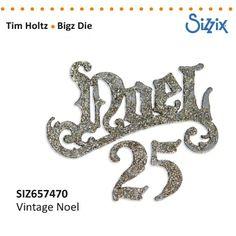 Sizzix Tim Holtz Bigz Die vintage Noel