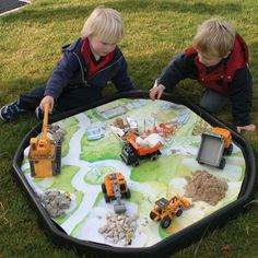 Active World Tuff Spot Tray - Builders Yard Playmat. Use this PVC waterproof play mat to place mater Tuff Spot, Tuff Tray, Uk Sites, Exploration, Garden Nursery, Aktiv, Outdoor Games, Adulting, Decoration