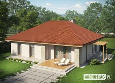 Projekty domów Archipelag: Helena ENERGO - opis - Archipelag Gazebo, Pergola, Village Houses, Porch, Outdoor Structures, Garden, Outdoor Decor, Home Decor, Templates
