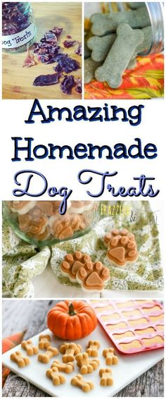Surprise your dog with amazing homemade dog treats! Healthy, simple and rewarding for you and your four legged fur-friend! #dogtreats