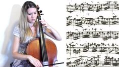 J.S. Bach - Cello Suite no. 1 in G major: II. Allemande, with sheet musi...