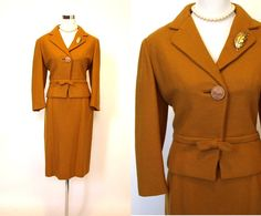 Vintage 60s Mustard Gold American Vogue womens 2 by therobotparade, $125.00