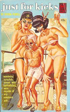 Just for Kicks (1965) Gene Bilbrew, Fetish Artist Book Cover, Satan Press 111 (!)