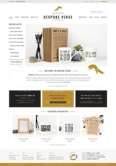 Handmade and sophisticated website  Bespoke Verse design by Aeolidia