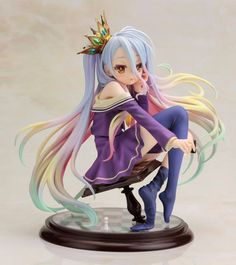 "Kotobukiya Shiro ""No Game No Life"" - Ani Statue: Kotobukiya explores the world of No Game No Life for their next Ani Statue with the SHIRO Ani Statue. Kotobukiya Shiro ""No Game No Life"" Ani Statue. Otaku Anime, Anime Toys, Fanarts Anime, Anime Kawaii, Anime Characters, Anime Play, Cartoon Toys, Chibi, Anime Outfits"