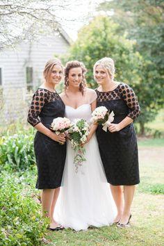 Black polka dots #bridesmaids