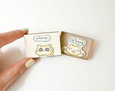 Love Encourage Friendship Card/ Cat Card/ Matchbox / Gift box