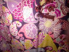 Detail of Mens Robert Graham Pink Paisley MOBY Long Sleeve Shirt with Burgundy Embroidery.  RF081028, Fall 2008