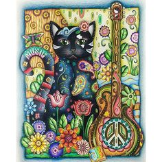 Inspirational Coloring Pages by Ale Bavaresco @alebavaresco #inspiração #coloringbooks #livrosdecolorir #jardimsecreto #secretgarden #florestaencantada #enchantedforest #reinoanimal #animalkingdom #adultcoloring #milliemarotta #cats #gatos