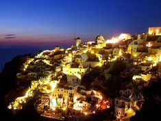 https://flic.kr/p/ajUb1G | Blue hour in Oia, Santorini |  Buy this photo on Getty Images :  Getty Images    Exposure 30 sec. ISO Speed 80  Oia remains one of the foremost tourist attractions of the Aegean Sea. The famous Oia sunset, considered by many as one of the most beautiful in the world, keeps tourists flocking down to the castle, waiting for the moment when the sun slips down on the calm sea of the caldera.