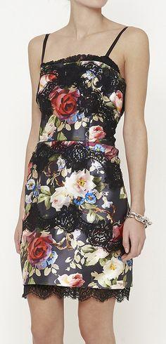 Dolce & Gabbana Floral Satin Dress