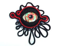 Soutache, beads & eye