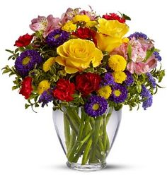 Order Brighten Your Day from Exotic Flowers, your local Boston florist. Send Brighten Your Day mixed bouquet for fresh and fast flower delivery throughout Boston, MA area. Get Well Flowers, Fast Flowers, Large Flowers, Summer Flowers, Purple Flowers, Tropical Flowers, Colorful Flowers, 800 Flowers, Send Flowers