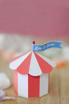 Carta Colla e Fantasia: Idee geniali dal web | Circus favor box