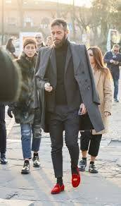 Resultado de imagen para red loafers for men style