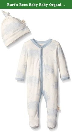 Burt's Bees Baby Baby Organic Toile Snap Front Coverall and Hat Set, Sail Blue, 0-3 Months. This comfy coverall is perfect for an adventurous day! the toile print and footed feature make it easy to crawl comfortably in style. Throw on the matching knot top hat for a head to toe look.
