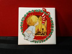 Vintage 1981 Jasco Ceramic Tile Christmas Trivet