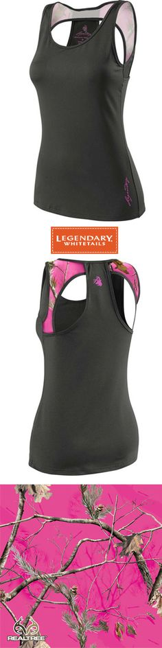 Women's Territory Performance Tank with Realtree Rose is perfect for working out in style. #LegendaryWhitetails