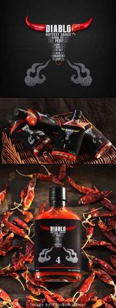 Diablo Hottest Sauce #packaging PD