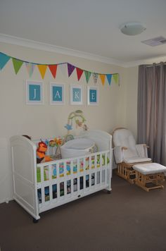 Can't wait to bring our baby boy home to his bright nursery!