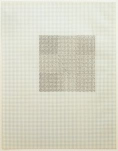"""Eva Hesse, """"Untitled,"""" 1967, black ink on graph paper, 11 x 8 1/2 inches (27.9 x 21.6 cm) © The Estate of Eva Hesse, Hauser & Wirth Zürich London"""