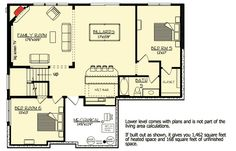 Lower Level house plan 73329HS