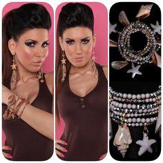 Beach Look, Diamond Earrings, Shopping, Jewelry, Products, Fashion, Wristlets, Moda, Jewlery