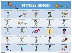 FITNESS BINGO- 30 DIFFERENT BINGO CARDS AND TEACHER TOOLS - http://TeachersPayTeachers.com