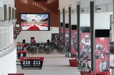 Raymond James Stadium, home of the Tampa Bay Buccaneers in Tampa, FL and the Clarity Matrix LCD video wall by Planar.  http://casestudies.planar.com/#vertical-markets/sports-venues/raymond-james-stadium