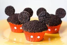 Micky Mouse cupcake chocolate cake with mini Oreos as the ears! So cute!!