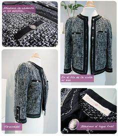 chaqueta chanel DIY 11 Chaqueta de Tweed tipo Chanel. #DIY