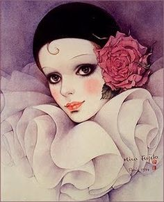 When I was a teenager Pierrot was very popular. My sister and I had posters like these and stationery with these pictures on it as well. I even bought my sister a Pierrot clock one year for her birthday or Christmas. Clown Paintings, Pierrot Clown, Cute Clown, Send In The Clowns, Vintage Circus, My Childhood, Amazing Art, Illustration Art, Fine Art
