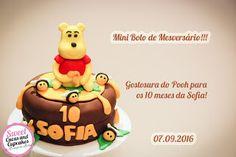 Sweet Cucas and Cupcakes by Rosângela Rolim: Mini Bolo Mesversário Tema Ursinho