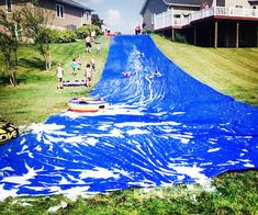 World's Longest Backyard Lawn Water Slide