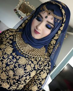 40 Ideas asian bridal hijab pakistani dresses for 2019 Bridal Hijab Styles, Muslim Wedding Dresses, Muslim Brides, Muslim Women, Pakistani Bridal Makeup, Pakistani Bridal Dresses, Beau Hijab, Hijab Fashion, Fashion Dresses