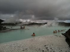 Blue lagoon. Finally a place where the water was  warm enough for even me to swim.