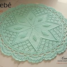 Crochet rug crochet carpet doily lace rug by eMDesignBoutique Crochet Mat, Crochet Carpet, Crochet Mandala Pattern, Crochet Dollies, Crotchet Patterns, Doily Patterns, Crochet Home, Thread Crochet, Beautiful Crochet