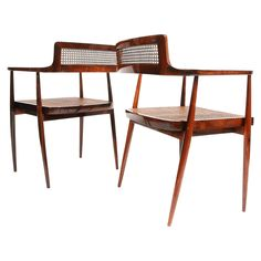 "Joaquim Tenreiro Pair of ""Cadeiras com Braços,"" (Armchairs) circa 1958 