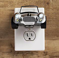 race car nightlight from Restoration Hardware. Car Themed Bedrooms, Car Bedroom, Big Boy Bedrooms, Baby Boy Rooms, Bedroom Themes, Baby Boy Nurseries, Baby Room, Kids Rooms, Bedroom Ideas