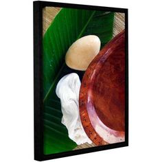 ArtWall Elena Ray Organic Spa Gallery-wrapped Floater-framed Canvas, Size: 14 x 18, Brown