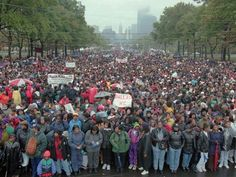 The original womens march took place in Philly 20 years ago