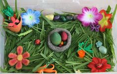 Counting Coconuts: April Sensory Tub - Spring