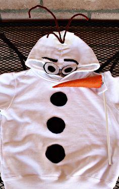 DIY Olaf Snowman Costume