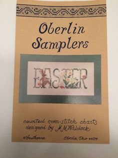 Oberlin Samplers Easter Cross Stitch Chart Pattern Bunny Flowers Eggs Spring | eBay