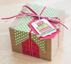 Stampin' Up! kraft box decorated by Shelli G So Shelli - So Shelli Blog - Best of Shelli Projects--Round 2