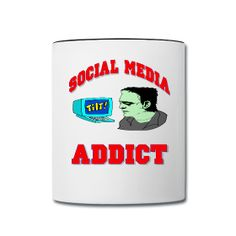 This Social Media Addict Ceramic Coffee Mug is available from PersonalizedSouvenirs.com.