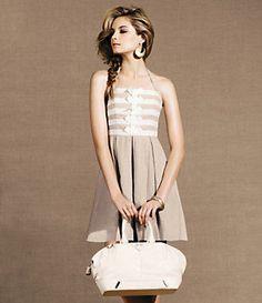Rachel Berry's Jessica Simpson Linen Halter Dress #Glee #TVFashion