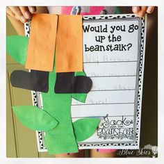 Jack and the Beanstalk activities for kindergarten and first grade. Unit includes writing, reader's theater, science, and math for a great STEM pack! First Grade Activities, Library Activities, Montessori Activities, Stem Activities, First Grade Crafts, Reading Activities, 1st Grade Writing, Kindergarten Writing, Kindergarten Activities