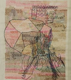Kjmrarely ( Thread on paper Contemporary embroidery Contemporary Embroidery, Art Brut, Cross Stitch, Textiles, Drawings, Paper, Color, Instagram, Crossstitch